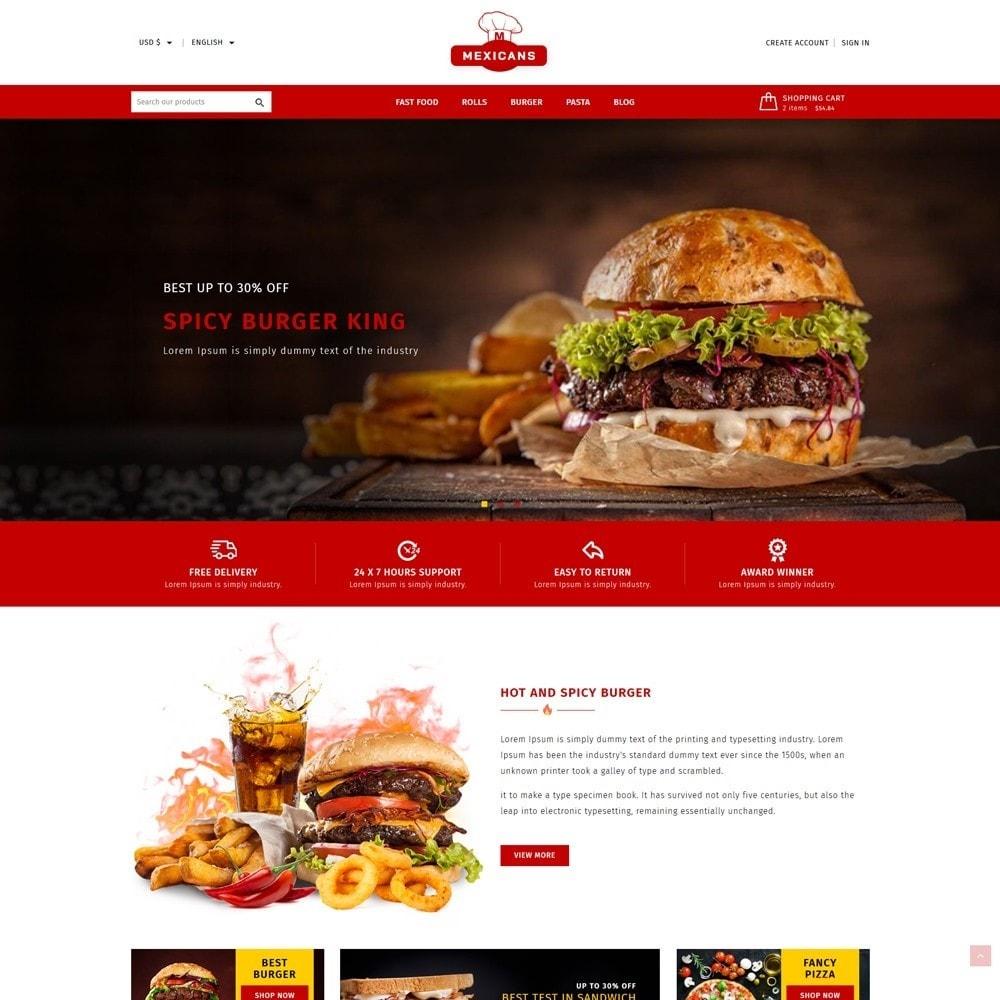 theme - Food & Restaurant - Maxicans Food - 2