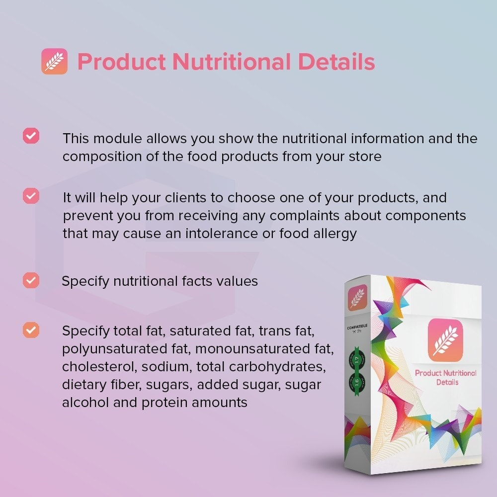 module - Additional Information & Product Tab - Product Nutritional Details - 2