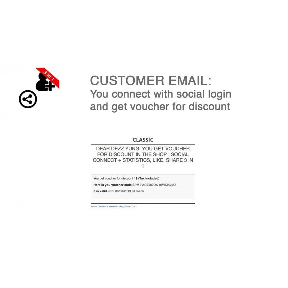 module - Login & Verbinden - Social Connect + Statistics, Like, Share 3 in 1 - 6