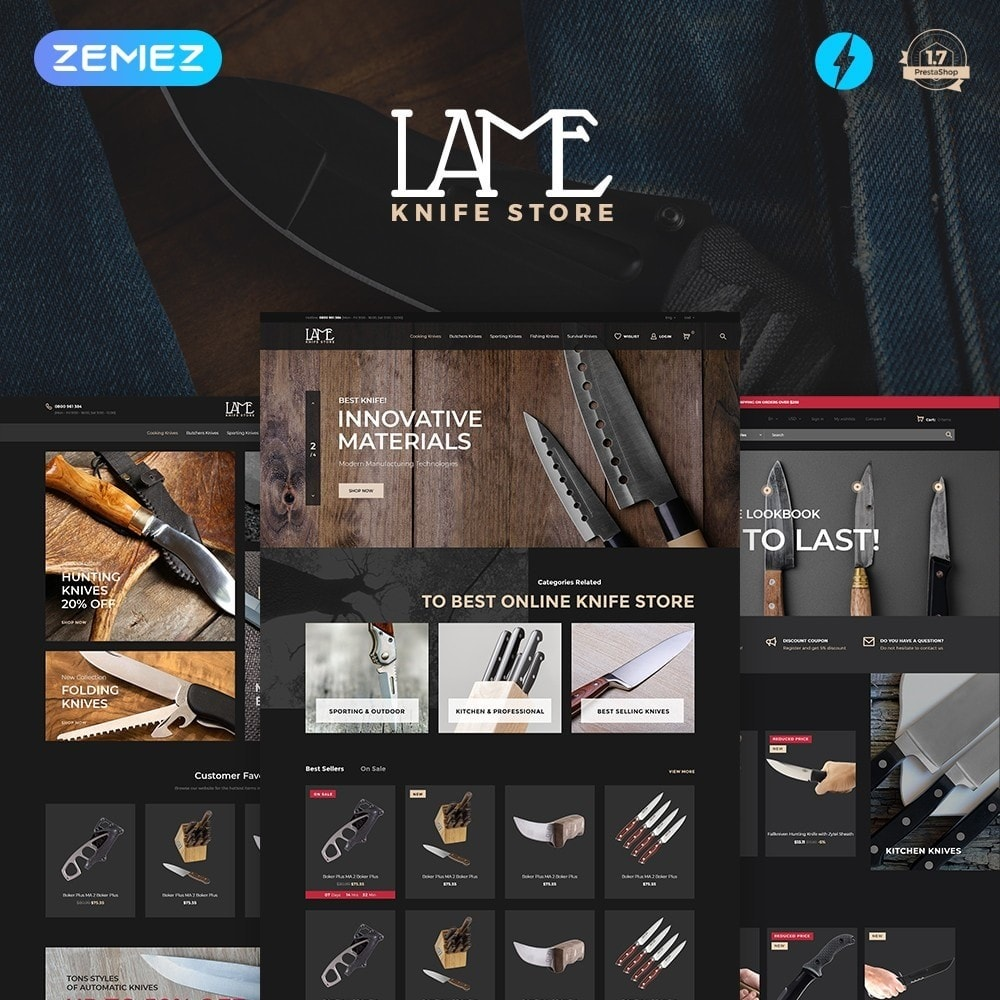 theme - Casa & Jardins - LAME - Knife Store - 2