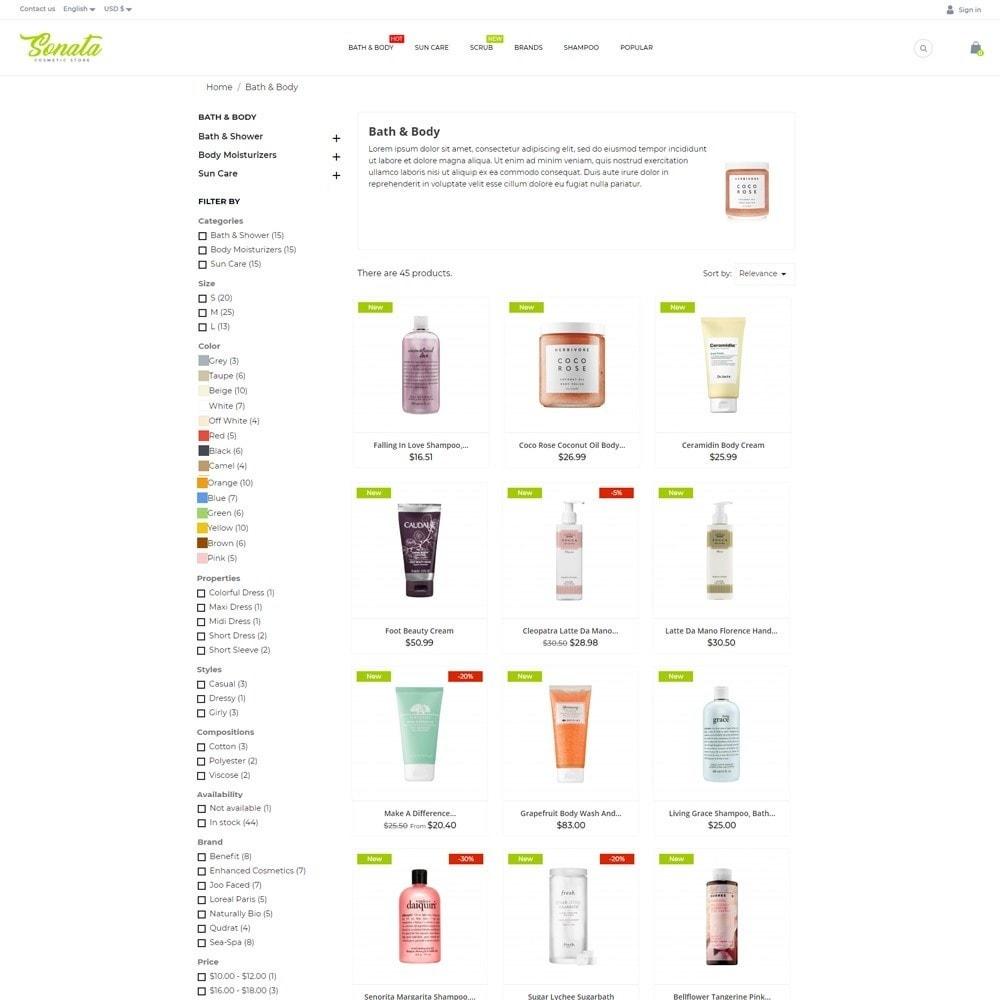 theme - Health & Beauty - Sonata Cosmetics - 6