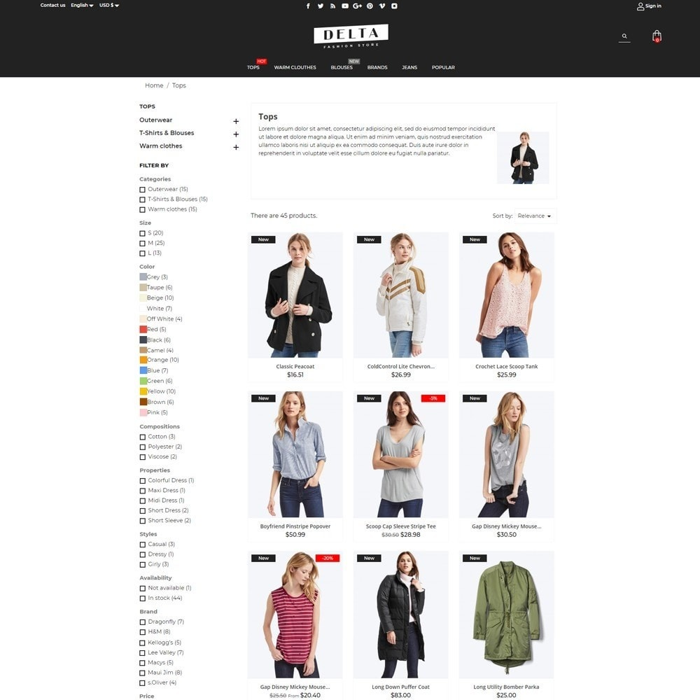 theme - Mode & Chaussures - Delta Fashion Store - 14