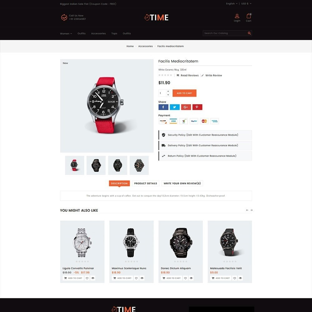 theme - Jewelry & Accessories - Time Watch Shop - 5