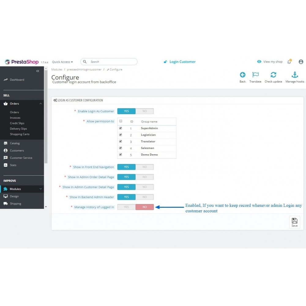 module - Segurança & Acesso - Login To Customer Account Without Password - 12