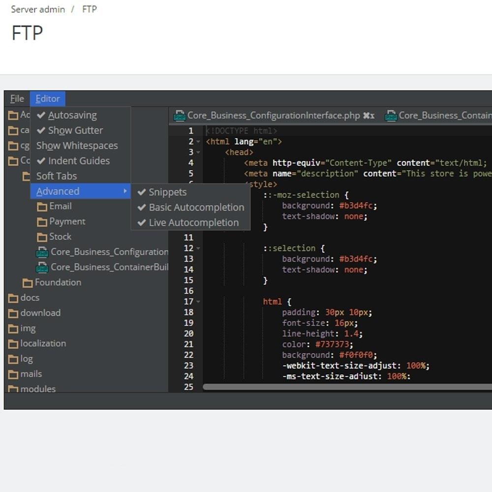 module - Инструменты администрирования - FTP редактор в админ панели - 2