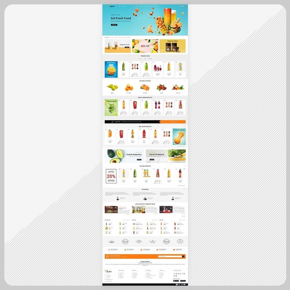 theme - Casa & Jardins - Aliments– The Organic Fresh Food - 2