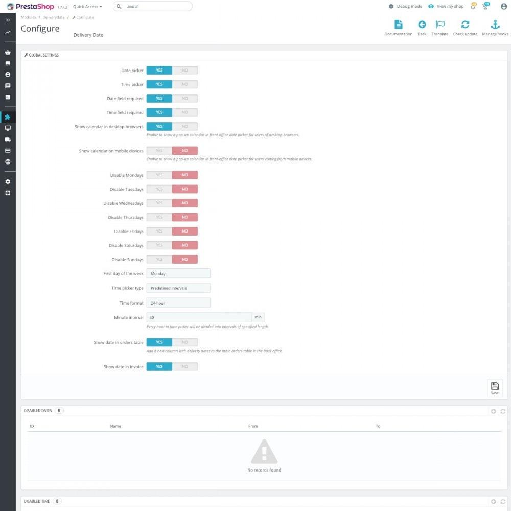 module - Punto di raccolta & Ritiro in negozio - Data di consegna avanzata Pro - 2