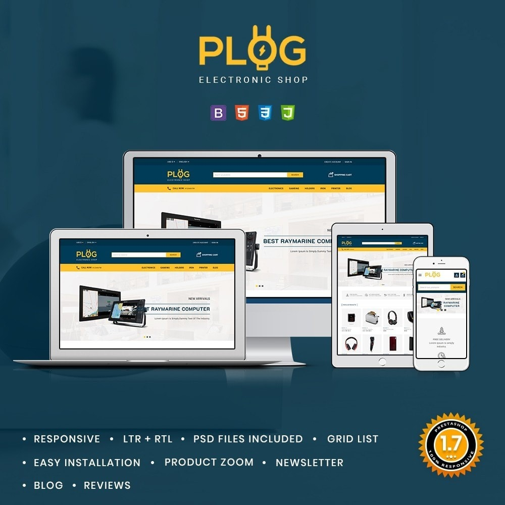theme - Electronics & Computers - Plog Electronics Shop - 1
