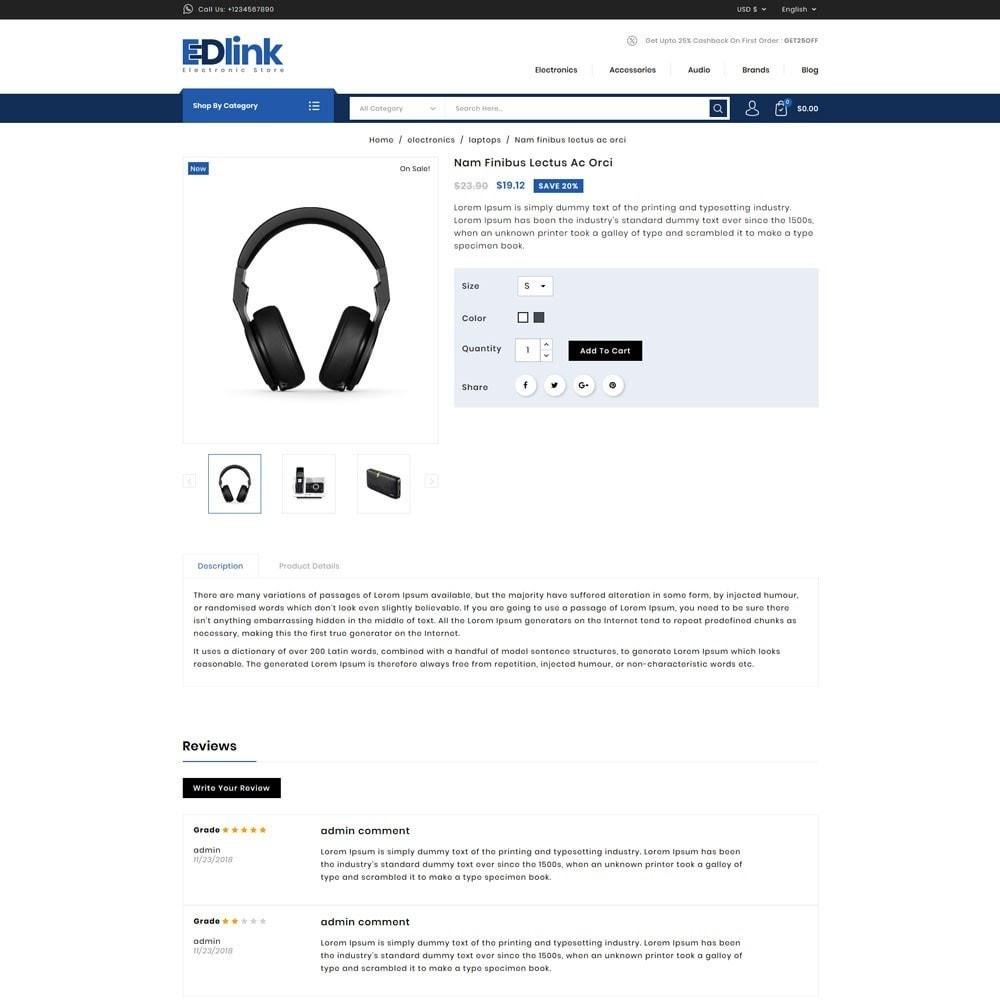 theme - Elektronica & High Tech - Edlink Electronic Store - 4