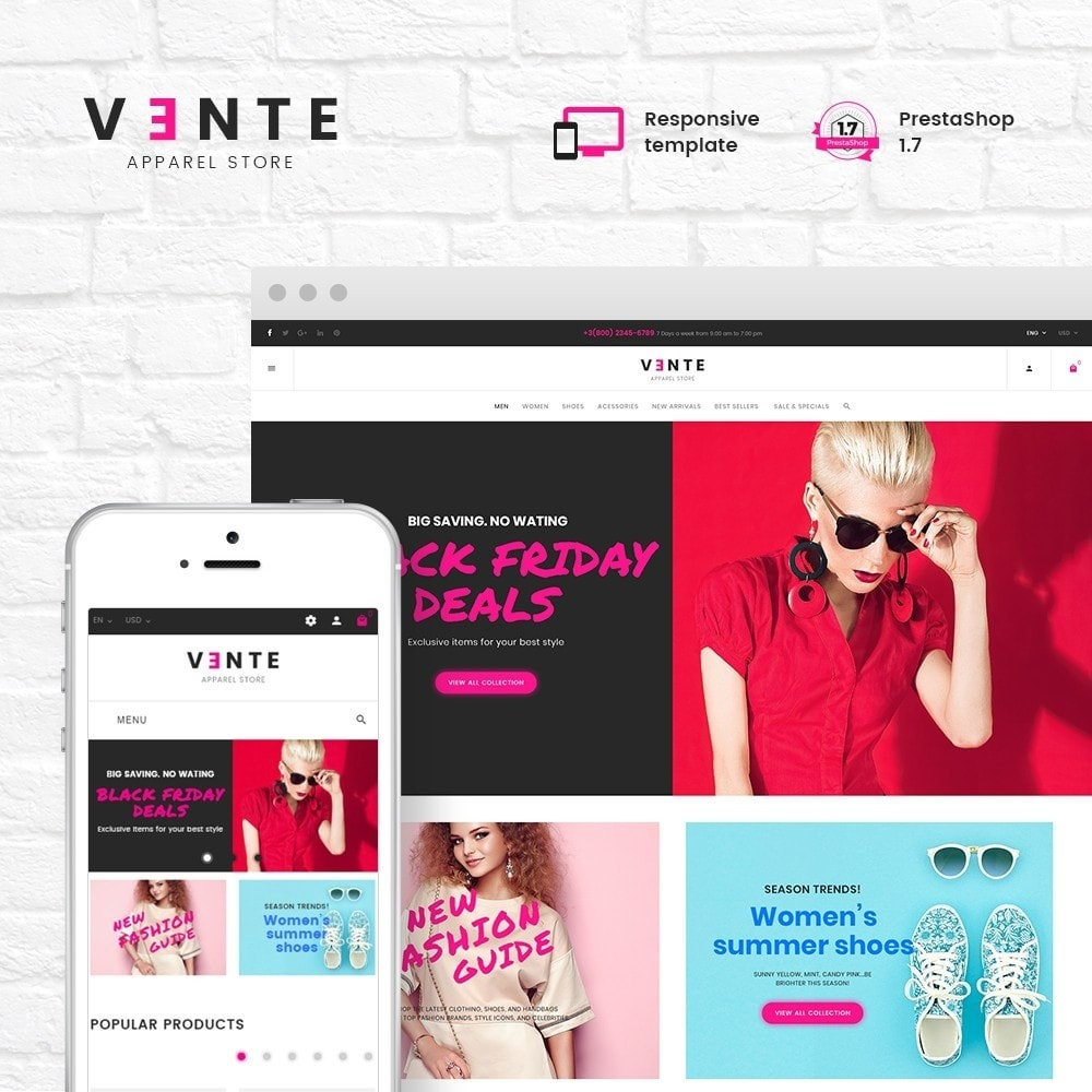 theme - Mode & Chaussures - Vente - Apparel Store - 1