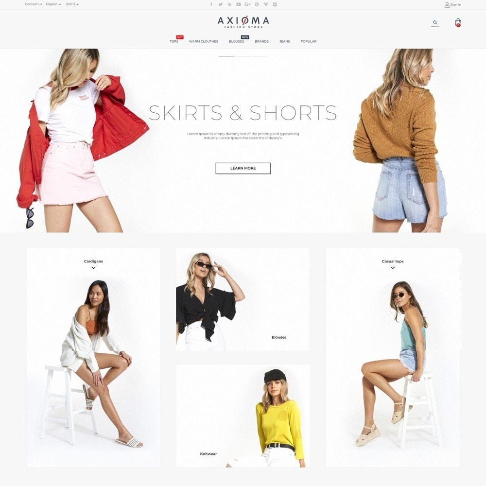 theme - Fashion & Shoes - Axioma Fashion Store - 2