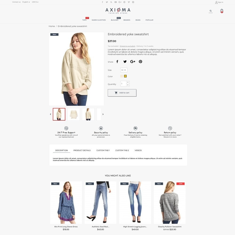 theme - Fashion & Shoes - Axioma Fashion Store - 5