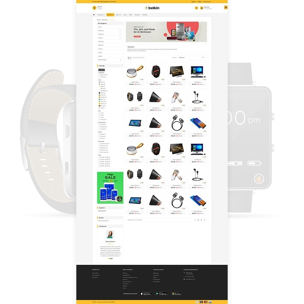 theme - Electronics & Computers - Belkin - Electronic Shop - 4