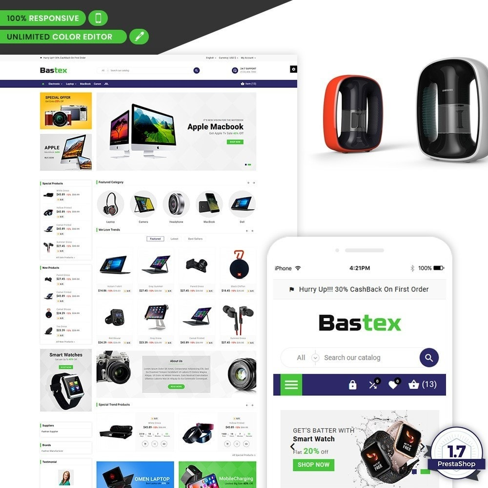 theme - Electronics & Computers - Bastax - Electronic Mega Mart - 1
