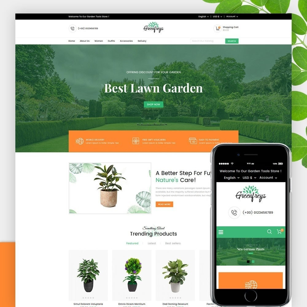 theme - Home & Garden - Greenfreys Garden Store - 1