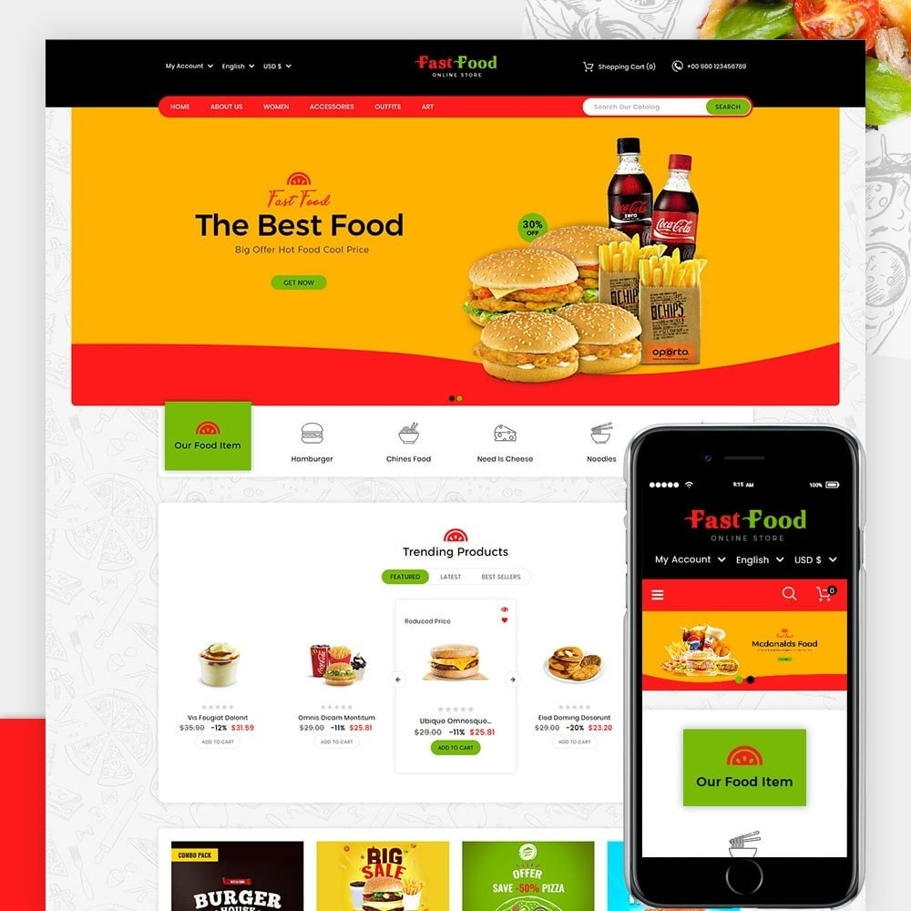 theme - Food & Restaurant - Fast Food Store - 1