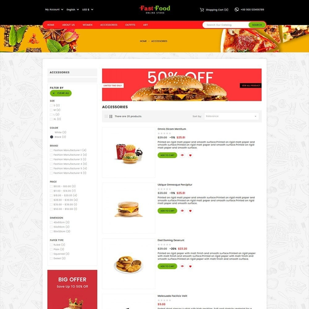 theme - Food & Restaurant - Fast Food Store - 4