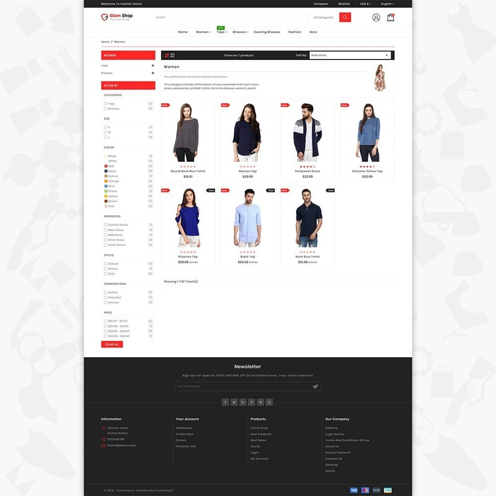 theme - Fashion & Shoes - GlamShop - The Fashion Shop - 3