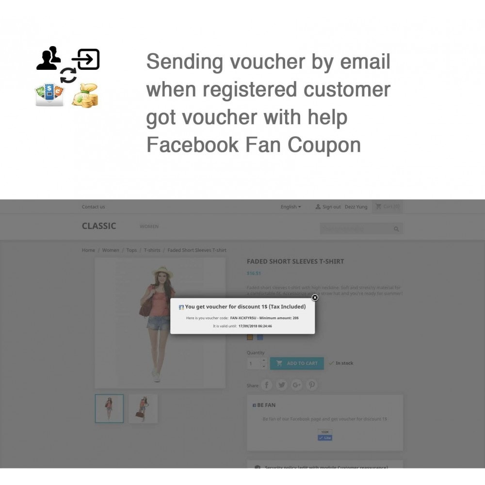 module - Login & Verbinden - Social Connect, Fan Coupon, Registration Coupon - 12