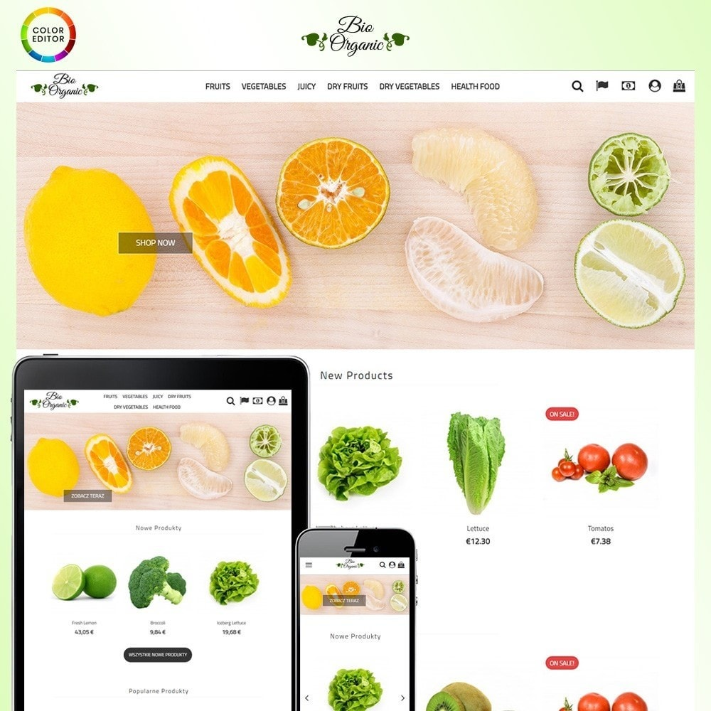 theme - Food & Restaurant - Bio Organic Store - 1