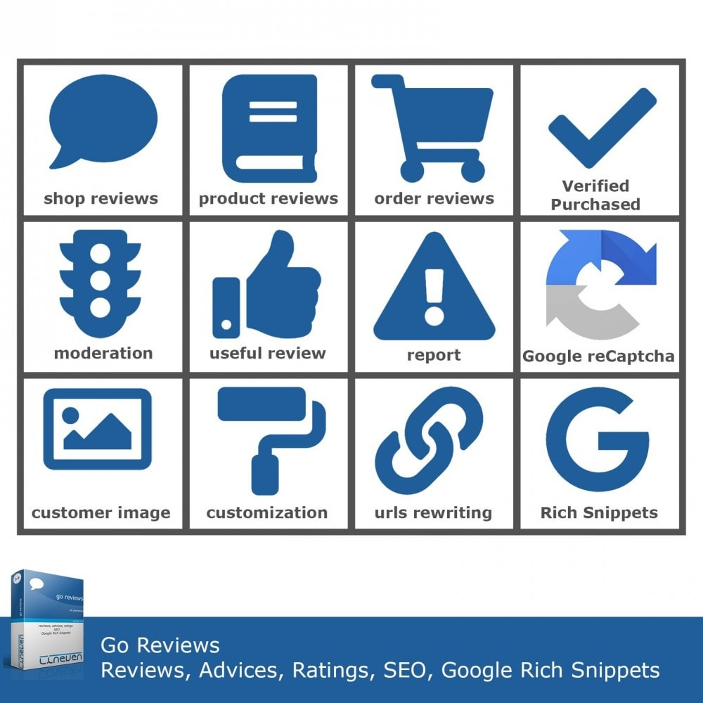 module - Klantbeoordelingen - Reviews, Advices, Ratings, SEO and Google Rich Snippets - 2