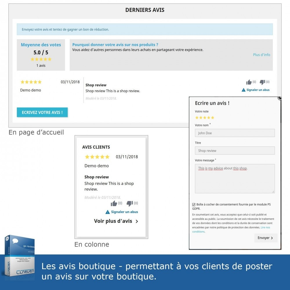 module - Avis clients - Commentaires, avis, notes, SEO et Google Rich Snippets - 4