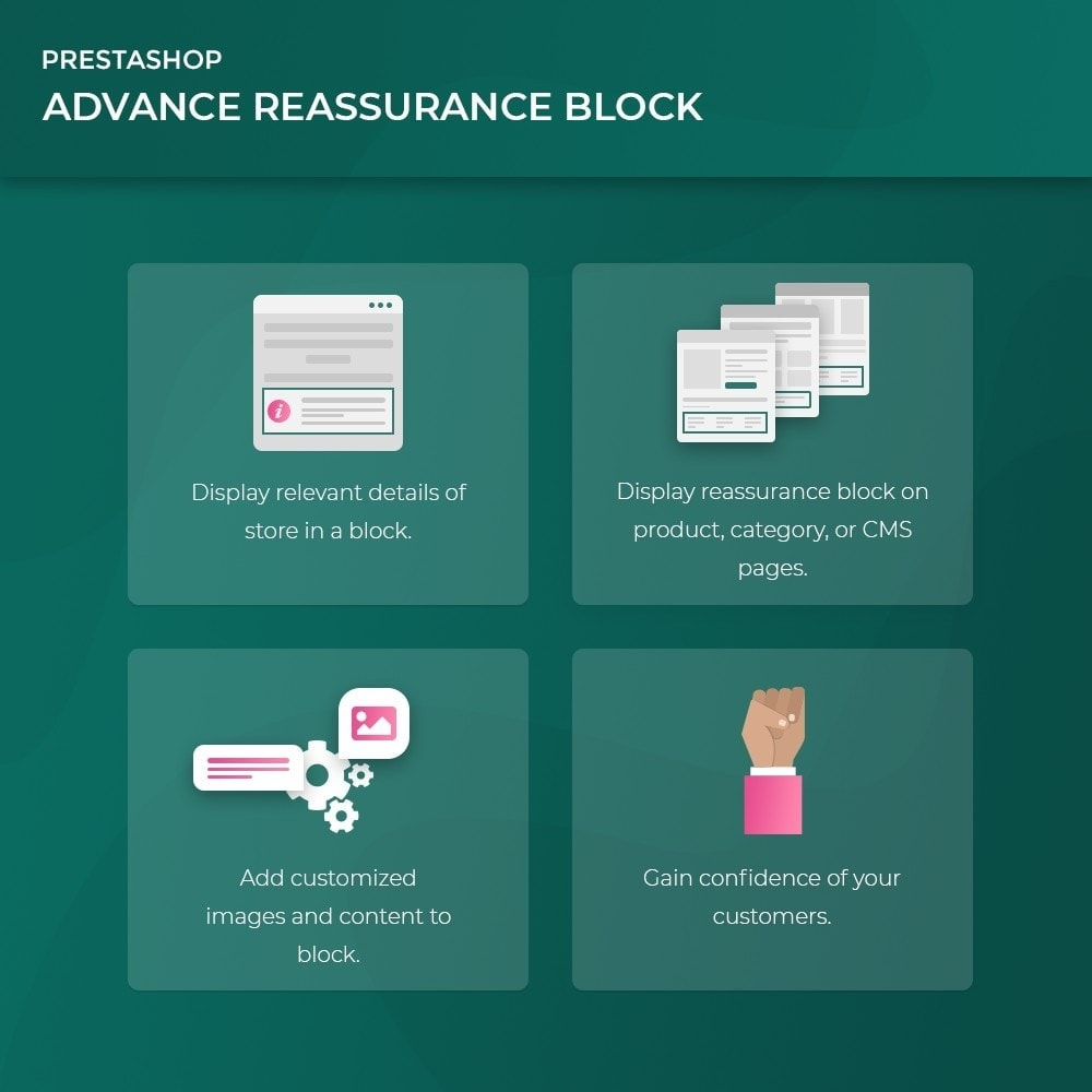 module - Blocchi, Schede & Banner - Advance Reassurance Block - 3