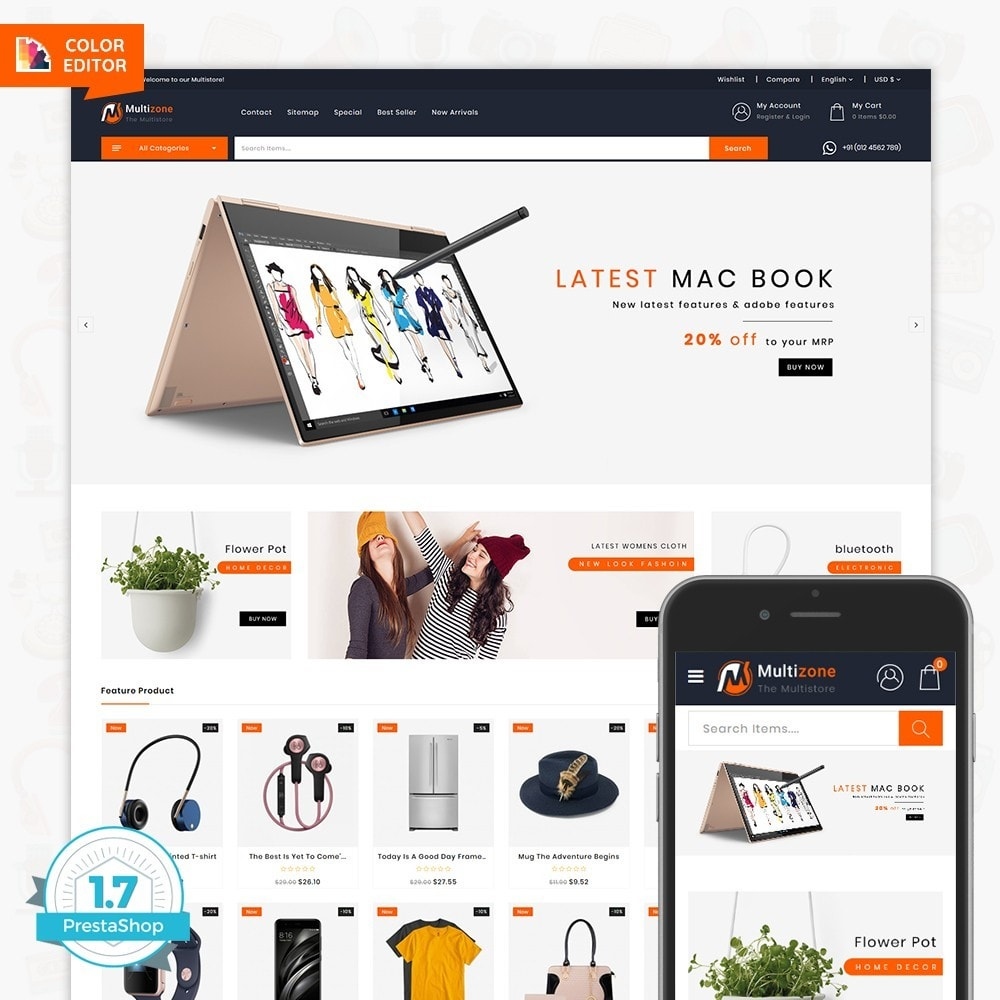 theme - Electronics & Computers - MultiZone - The Multi Shop - 1