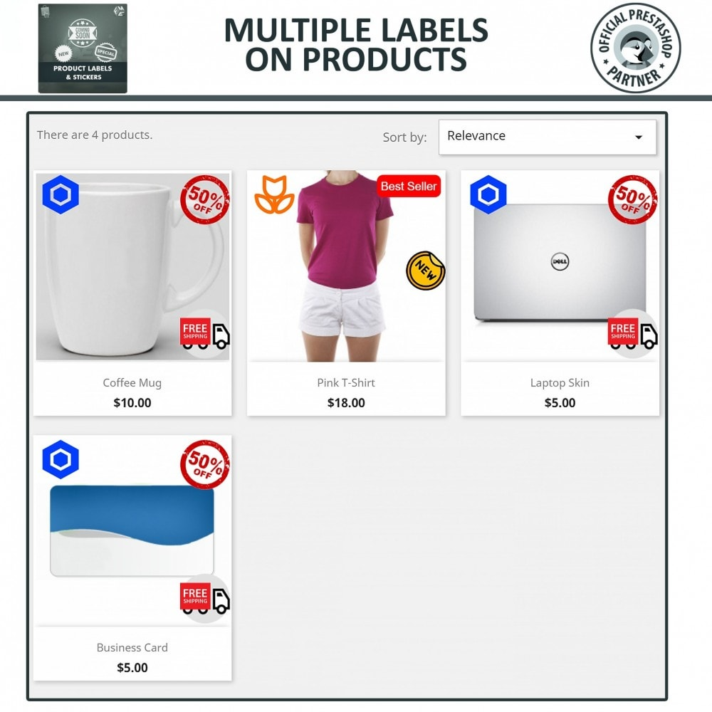 module - Badges & Logos - Product Labels & Stickers - 4