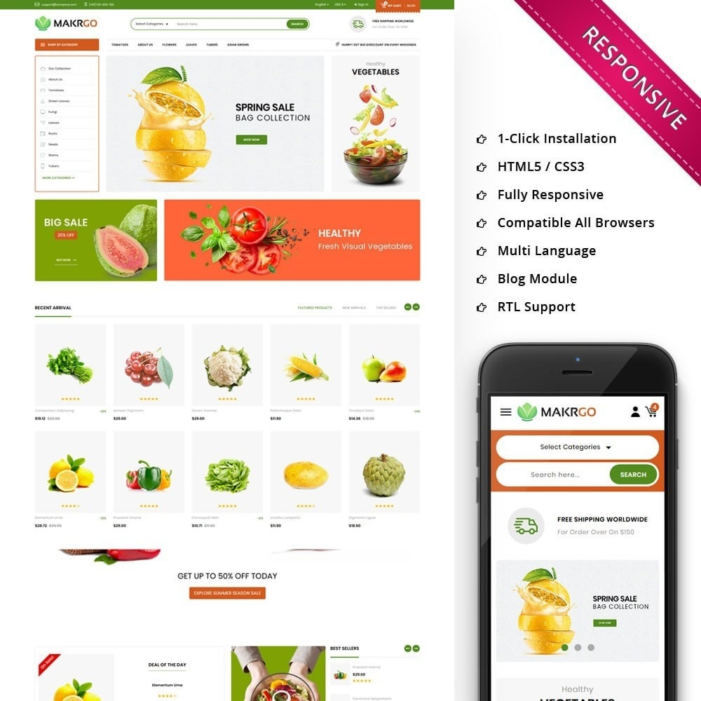 theme - Lebensmittel & Restaurants - Makgro - The Retailer Shop - 1