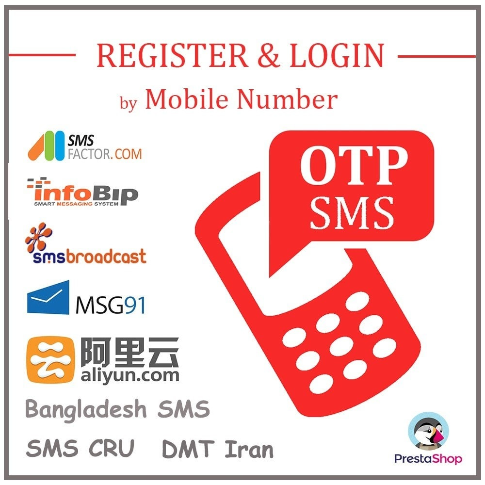 module - Mobile Endgeräte - Login by mobile phone number. Register by OTP SMS. - 1