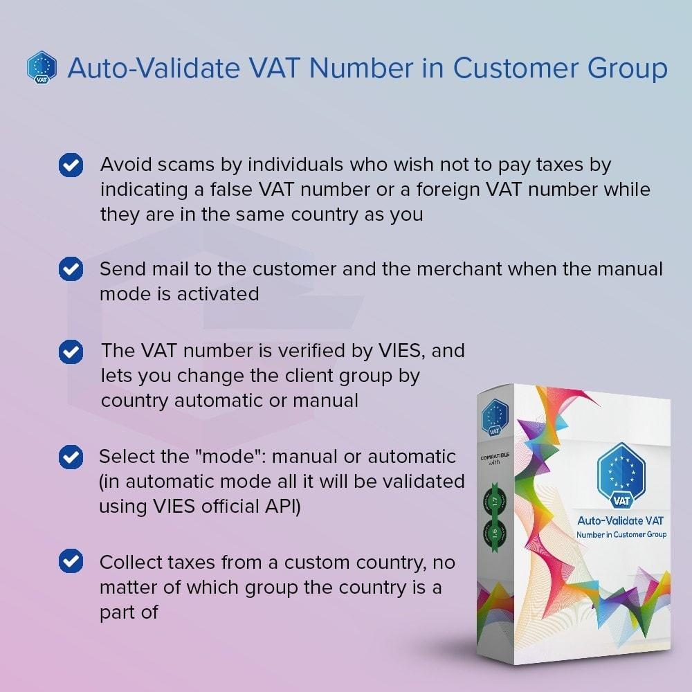 module - Contabilidad y Facturas - Auto-Validate VAT Number in Customer Group - 1
