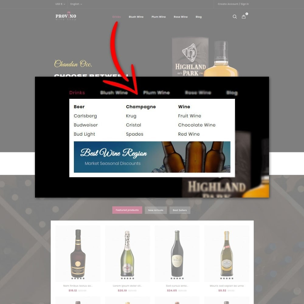 theme - Napoje & Wyroby tytoniowe - Provino Wine Store - 8