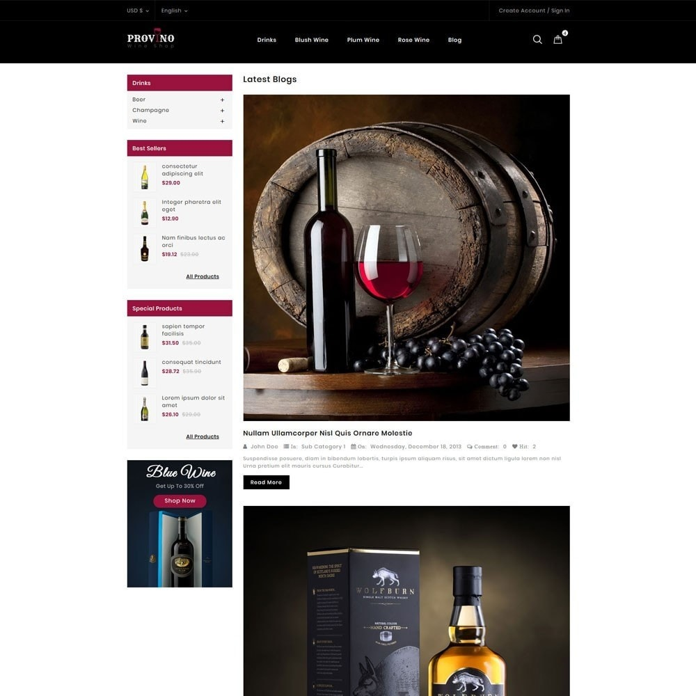 theme - Drink & Tobacco - Provino Wine Store - 9