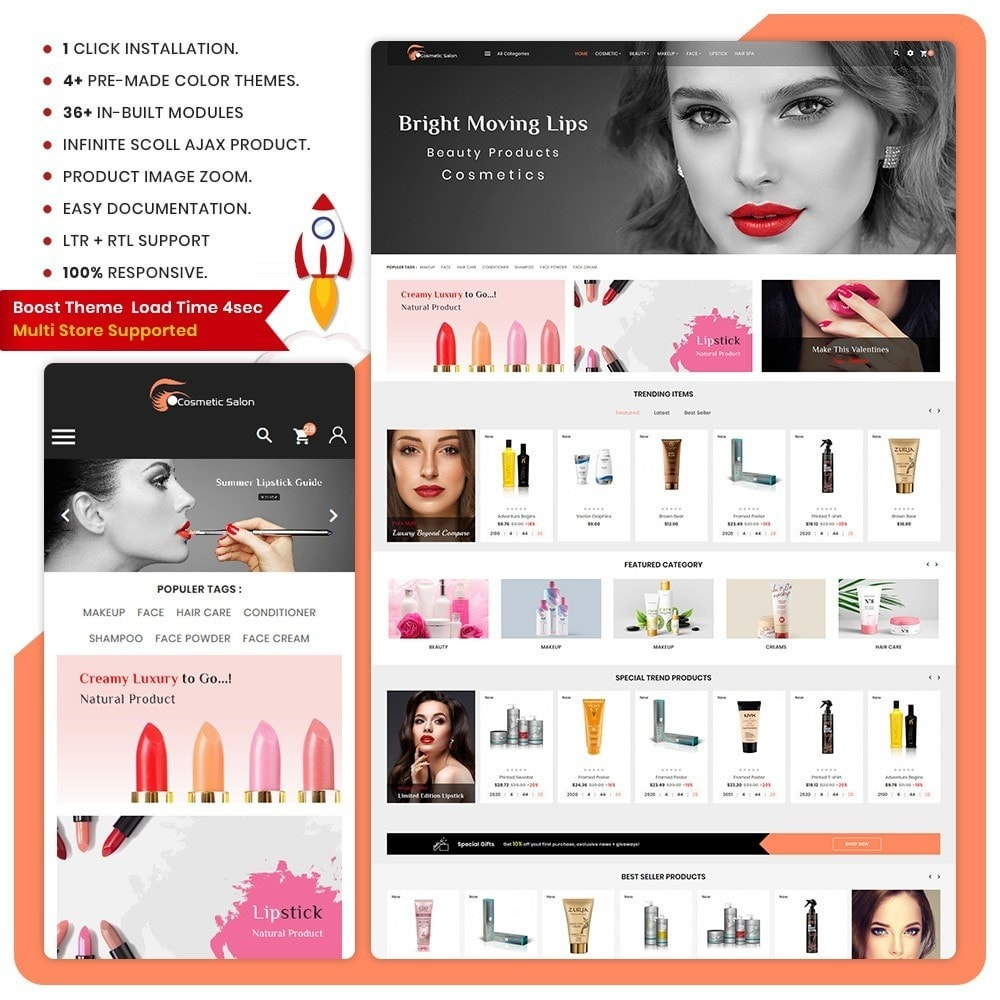 theme - Здоровье и красота - Cosmétique – Fash Cosmetic Store - 1