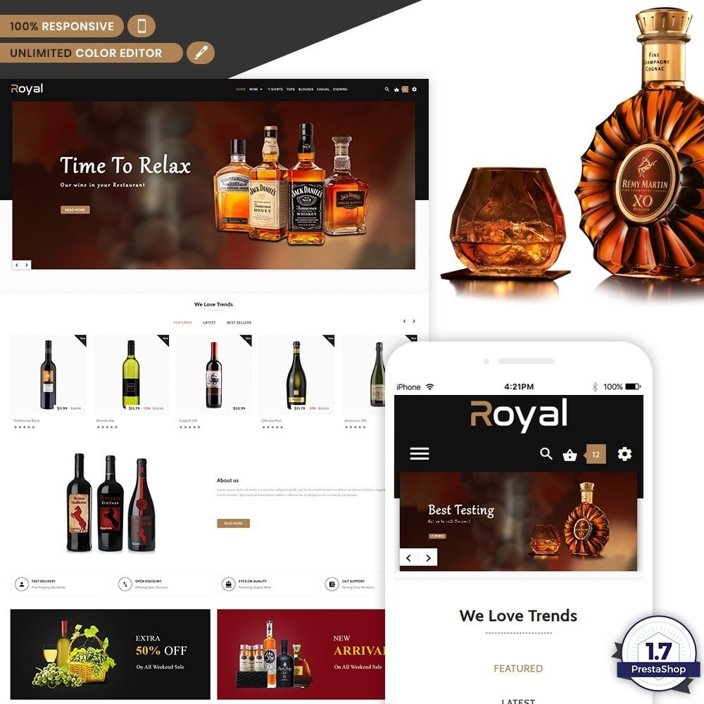 theme - Напитки и с сигареты - Royal - The Wine International Shop - 1