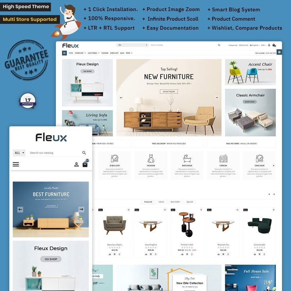 theme - Huis & Buitenleven - Fleux Wood – The Furniture Mega Mall - 1