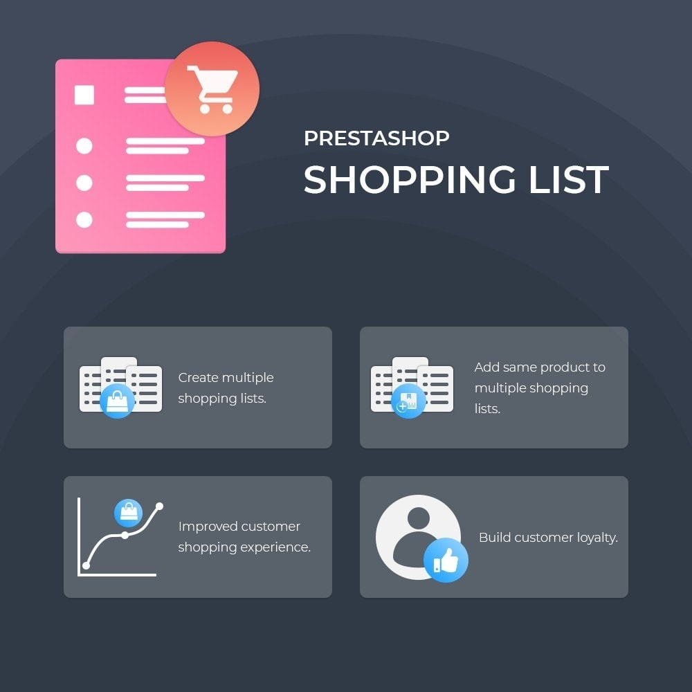 module - Registration & Ordering Process - Webkul Shopping List - 1