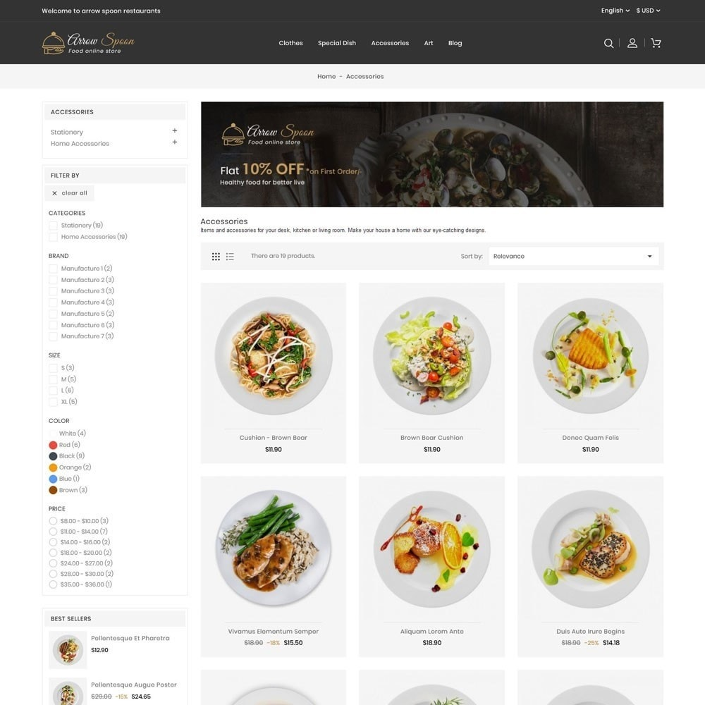 theme - Lebensmittel & Restaurants - Arrow Spoon Restaurants - 3