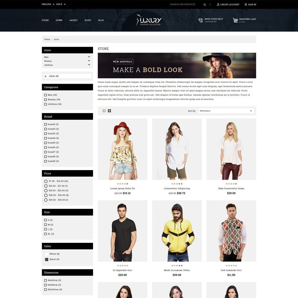 theme - Moda & Calçados - Luxury Minimal Fashion Shop - 3