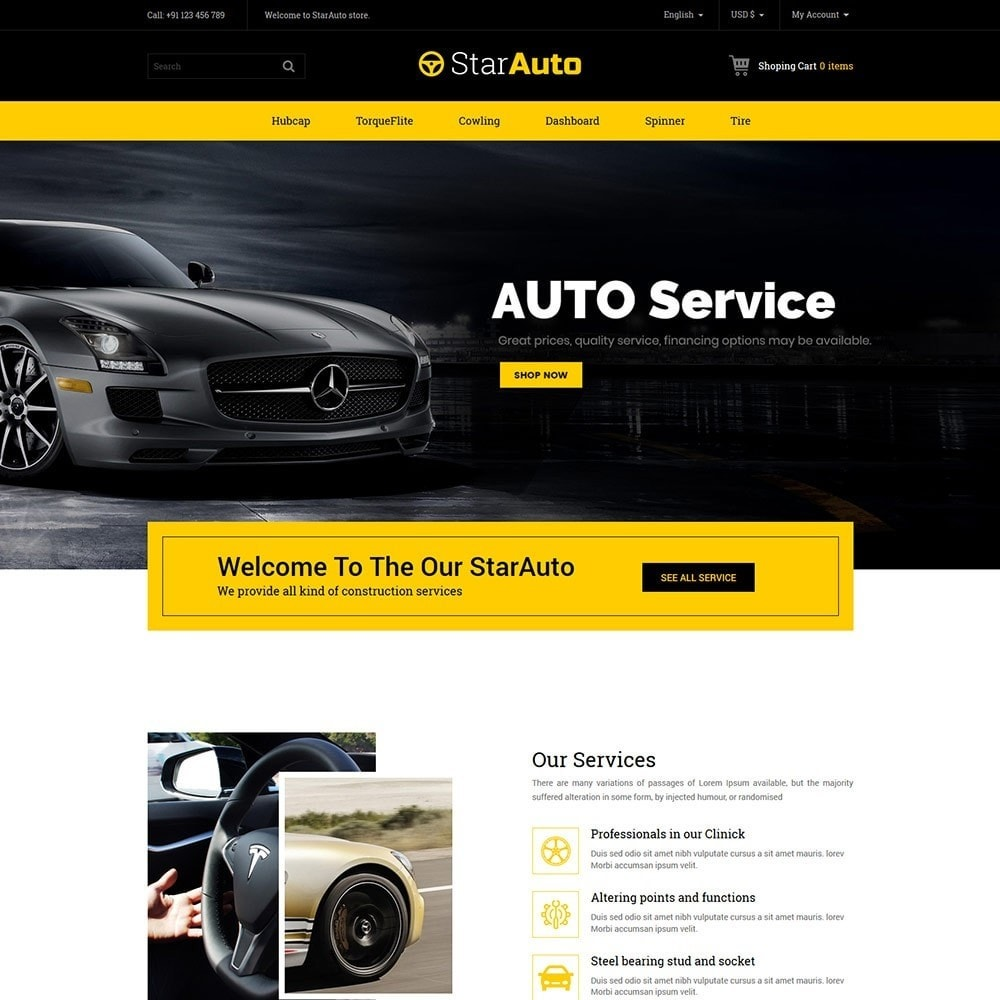theme - Automotive & Cars - Auto - Car Tool Store - 2