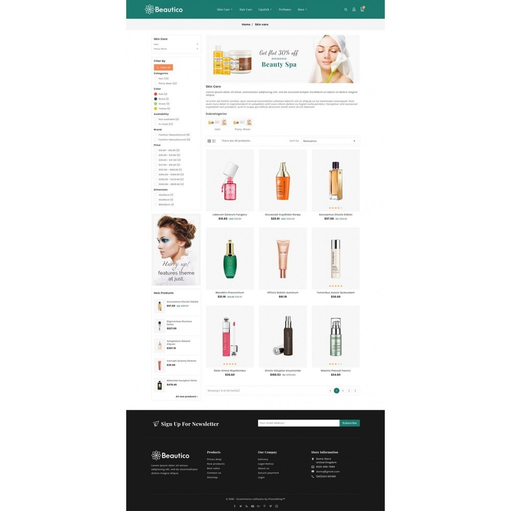 theme - Saúde & Beleza - Beautico Cosmetics - 3