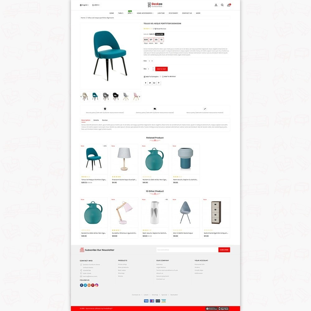 theme - Home & Garden - Deskza - The Best Furniture Store - 5