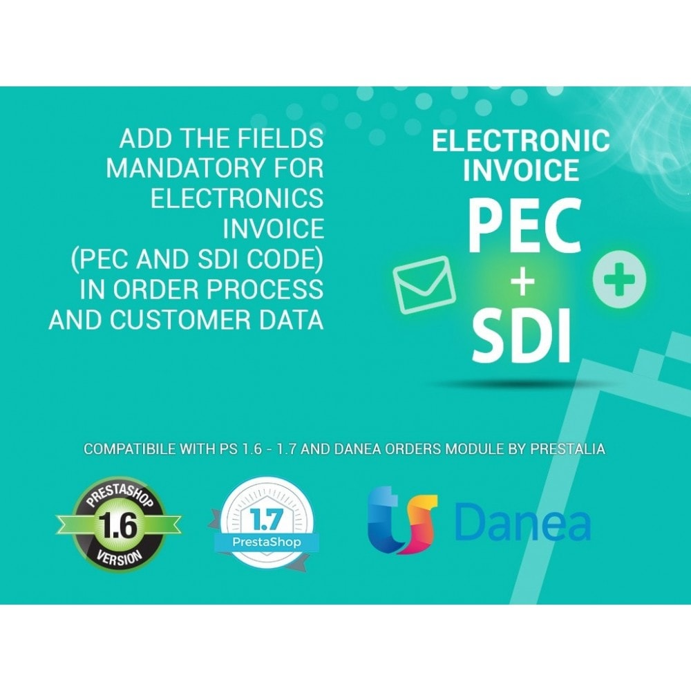 module - Funcionalidades Front Office - Electronic Invoicing PEC and SDI field - 1