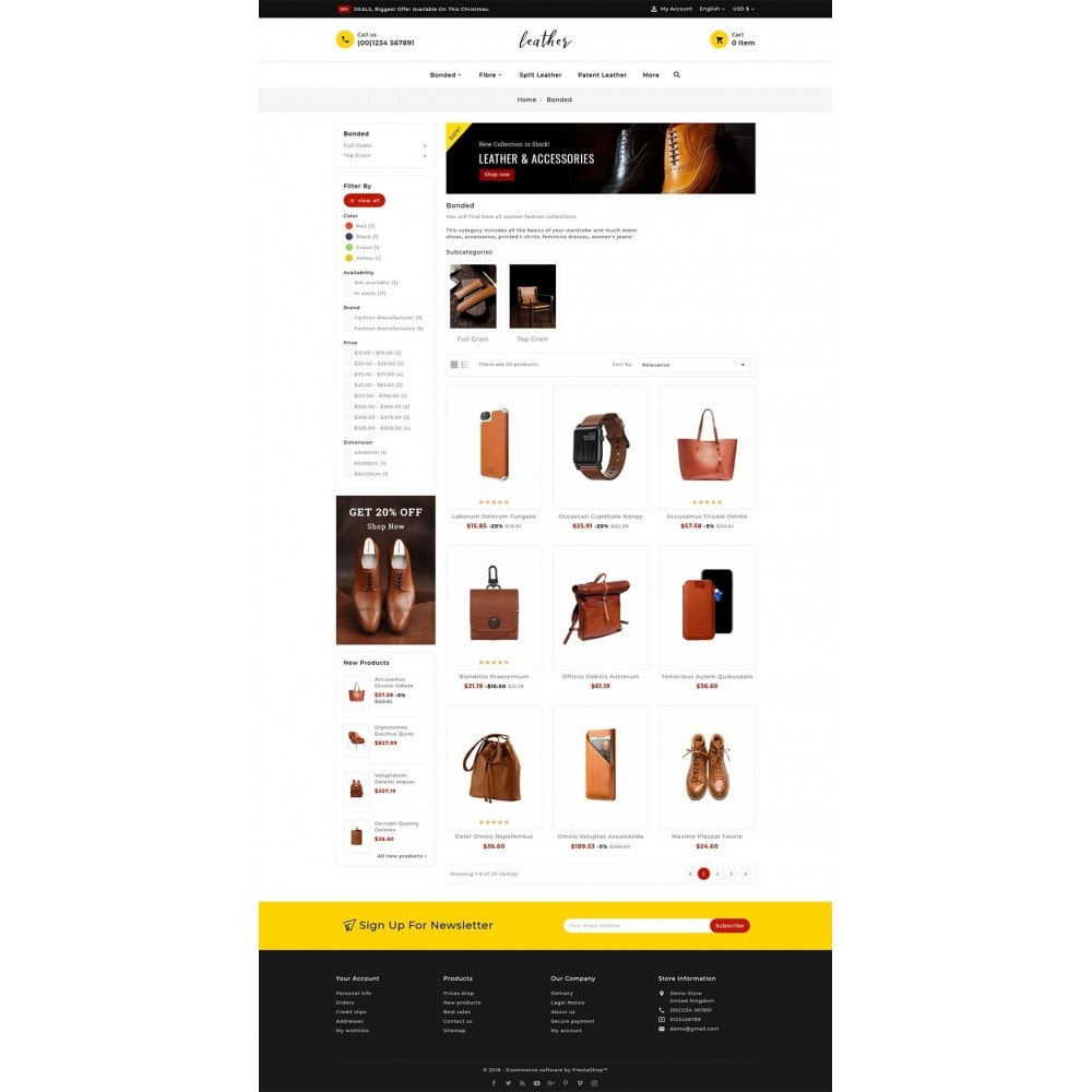 theme - Fashion & Shoes - Leather Smith & Art - 3