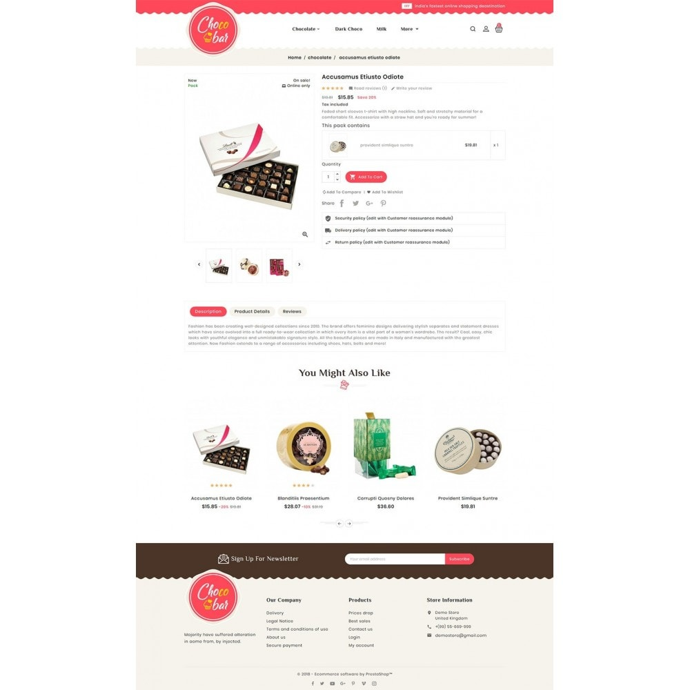 theme - Подарки, Цветы и праздничные товары - Chocobar & Sweets - 5