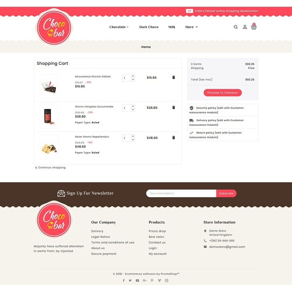 theme - Gifts, Flowers & Celebrations - Chocobar & Sweets - 6