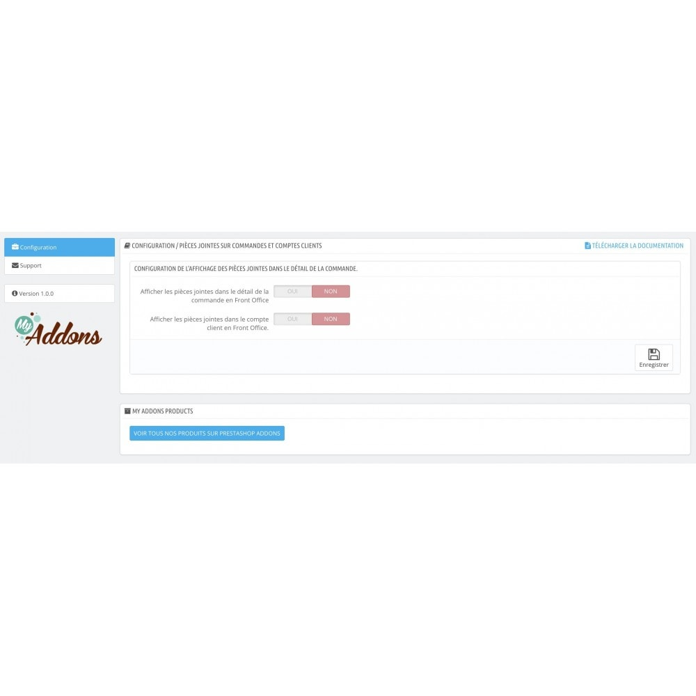 module - Service Client - Envoi de pièces jointes (commandes, clients) - 1
