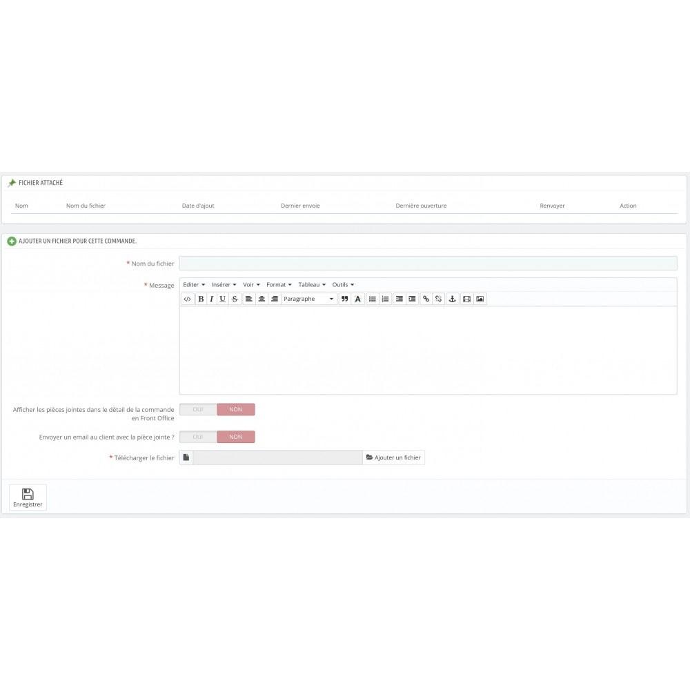 module - Service Client - Envoi de pièces jointes (commandes, clients) - 2