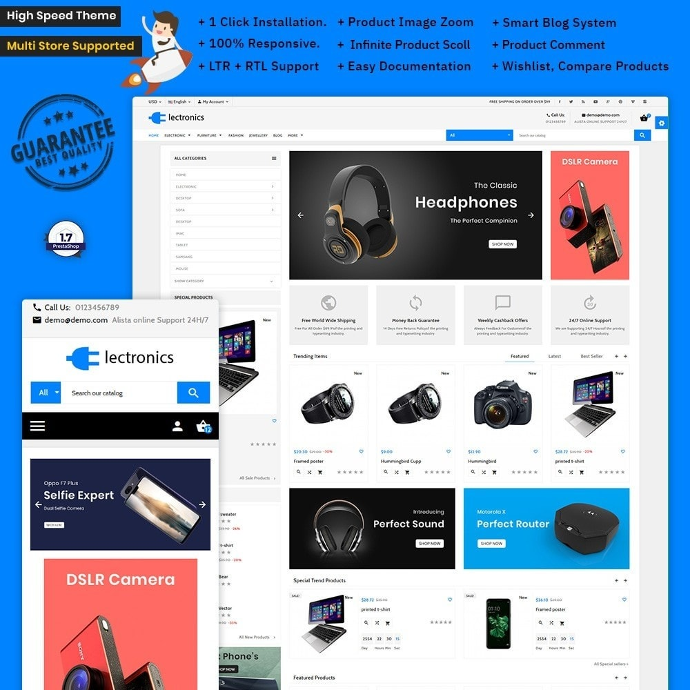 theme - Eletrônicos & High Tech - Electronics – The Electra Electronic Shop - 1